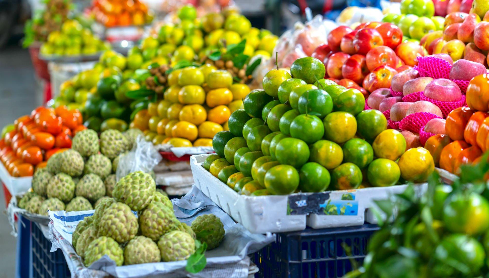 vendita di frutta e verdura, frutta esotica